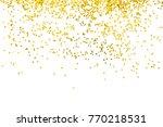 gold glitter isolated on white... | Shutterstock . vector #770218531