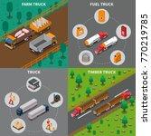 heavy automotive vehicles...   Shutterstock .eps vector #770219785