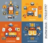 four squares fuel pump concept... | Shutterstock .eps vector #770219797