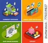 safe online banking 4 isometric ... | Shutterstock .eps vector #770219827