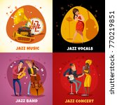 jazz music design concept with... | Shutterstock .eps vector #770219851
