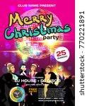vector christmas party... | Shutterstock .eps vector #770221891