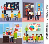 business coaching orthogonal... | Shutterstock .eps vector #770222449