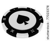 colorful casino chips isolated... | Shutterstock . vector #77023378