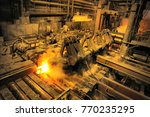 hot rolling mill workshop at... | Shutterstock . vector #770235295