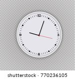 wall clock office. template... | Shutterstock .eps vector #770236105