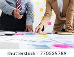 team work process. young...   Shutterstock . vector #770239789