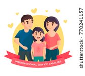 international day of families.... | Shutterstock .eps vector #770241157