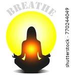 yoga meditation breathe | Shutterstock .eps vector #770244049