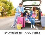 young family with children near ... | Shutterstock . vector #770244865