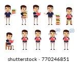 set of stylish businessman... | Shutterstock .eps vector #770246851