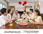happy vietnamese family... | Shutterstock . vector #770250589