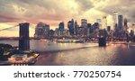 scenic sunset over new york...   Shutterstock . vector #770250754