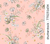 vector soft blooming floral... | Shutterstock .eps vector #770251654