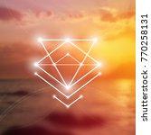 sacred geometry vector... | Shutterstock .eps vector #770258131