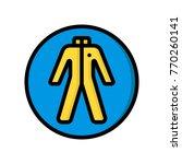 construction   hazmat suit | Shutterstock .eps vector #770260141