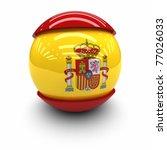 3d    flag of spain | Shutterstock . vector #77026033
