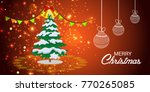 vector illustration of a banner ... | Shutterstock .eps vector #770265085