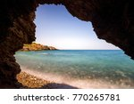 clear sea and reef in crete... | Shutterstock . vector #770265781
