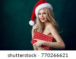 new year  christmas  gifts ... | Shutterstock . vector #770266621