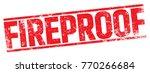 fireproof rubber stamp | Shutterstock .eps vector #770266684