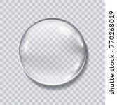 water drop realistic vector... | Shutterstock .eps vector #770268019