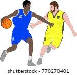 basketball players illustration ... | Shutterstock .eps vector #770270401