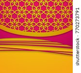 pink and yellow background with ...   Shutterstock .eps vector #770273791