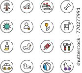 line vector icon set   plane... | Shutterstock .eps vector #770277991