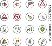 line vector icon set   right... | Shutterstock .eps vector #770278021
