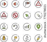 line vector icon set   right...   Shutterstock .eps vector #770278021