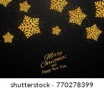 christmas  new year background... | Shutterstock .eps vector #770278399