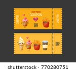 coupon fast food. gift voucher... | Shutterstock .eps vector #770280751