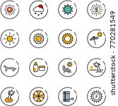 line vector icon set   sun...