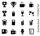 origami style icon set   cup... | Shutterstock .eps vector #770282767