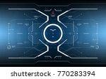 futuristic head up display... | Shutterstock .eps vector #770283394