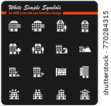 hotel vector icons for web and... | Shutterstock .eps vector #770284315