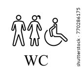 wc for people | Shutterstock .eps vector #770286175