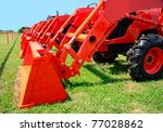 A Row Of New Tractors For Sale...