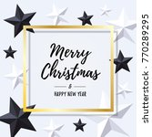 merry christmas and happy new... | Shutterstock .eps vector #770289295