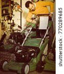 vigorous guy deciding on best... | Shutterstock . vector #770289685