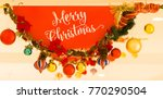 christmas signage at shopping... | Shutterstock . vector #770290504