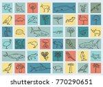 flat australia and oceania...   Shutterstock .eps vector #770290651