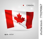canada 3d style glowing flag...   Shutterstock .eps vector #770290867