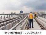 inspector  engineer  checking... | Shutterstock . vector #770291644