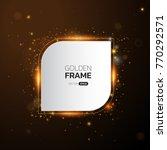 golden frame with lights... | Shutterstock .eps vector #770292571