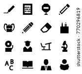 origami style icon set   marker ... | Shutterstock .eps vector #770296819
