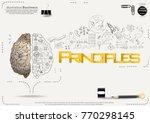 brain   pencil sketch   icon... | Shutterstock .eps vector #770298145