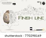 brain   pencil sketch   icon... | Shutterstock .eps vector #770298169