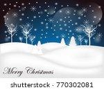 holiday winter landscape...   Shutterstock .eps vector #770302081